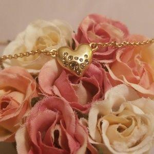 Lia Sophia Bedazzled Heart Necklace